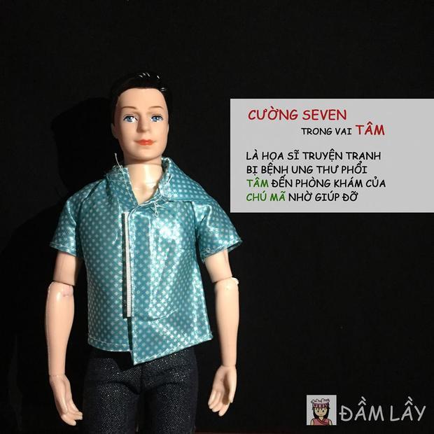 Cường Seven hẳn sẽ rất bất ngờ với diện mạo Barbie của mình