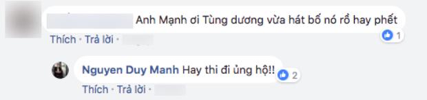 Phần trả lời của Duy Mạnh về việc Tùng Dương hát bolero.