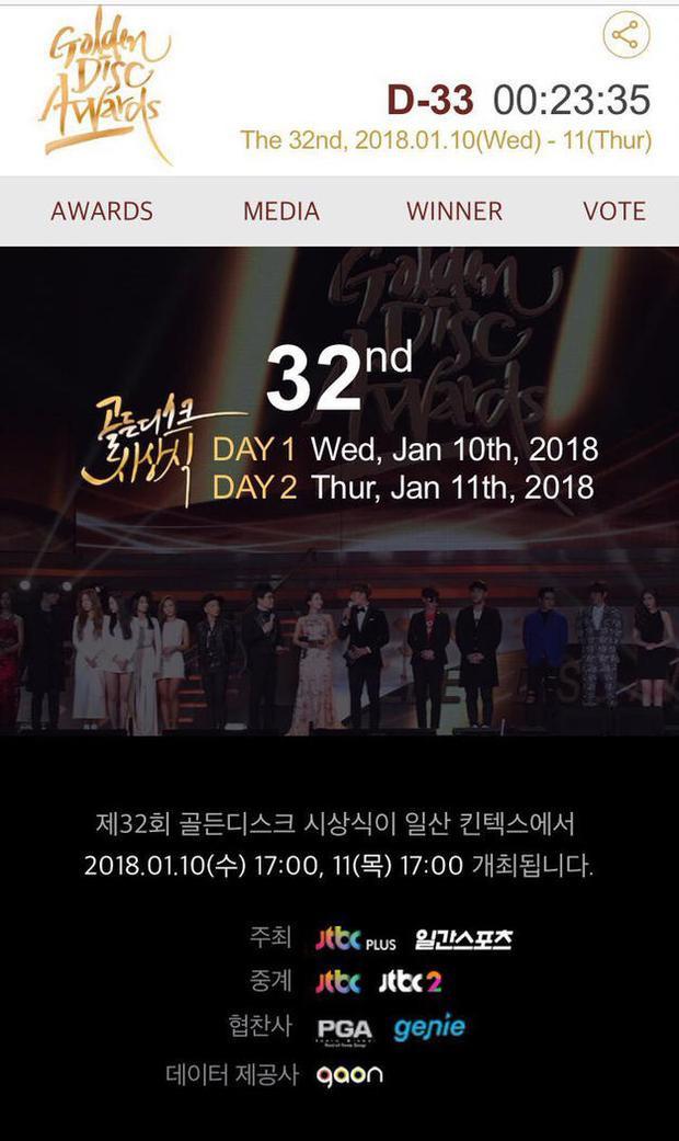 Năm nay, lễ trao giải sẽ diễn ra tại Hàn Quốc vào ngày 10, 11/1/2018.