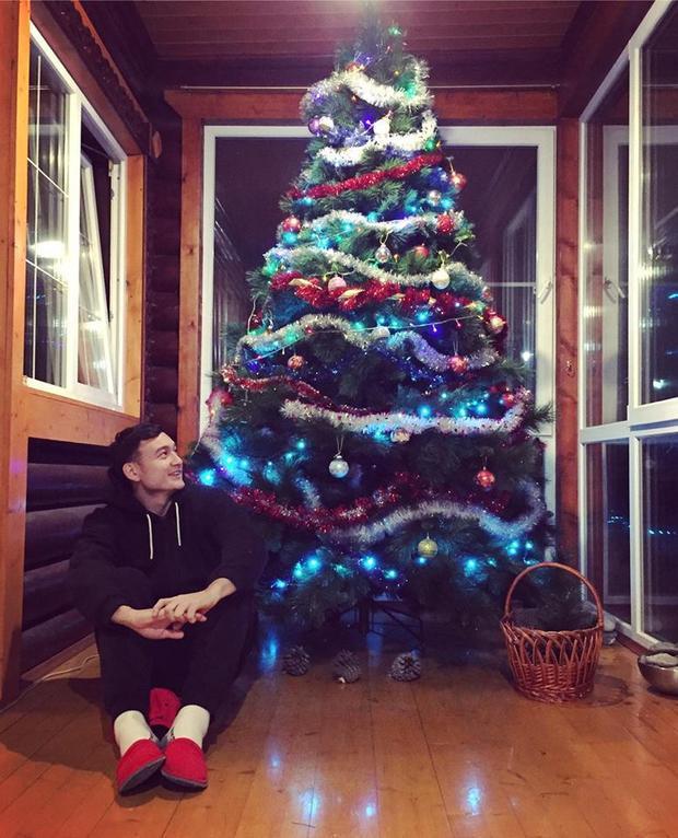 Văn Lâm đón Noel ở Nga.
