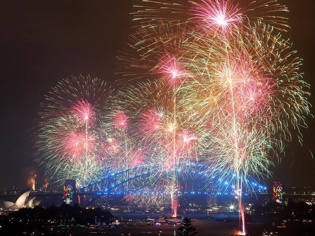 Màn trình diễn pháo hoa tại cầu cảng Sydney có tới 3.000 hiệu ứng ánh sáng, nhiều hơn năm ngoái 1.000 hiệu ứng.