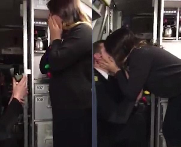 Không giấu nổi niềm hạnh phúc, Gibbs ngay lập tức dành cho bạn trai một nụ hôn ngọt ngào trong tiếng reo hò của tất cả mọi người.