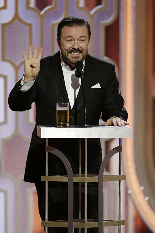 Diễn viên hài người Anh Ricky Gervais là người đã 4 lần dẫn Lễ trao giải Quả cầu vàng.