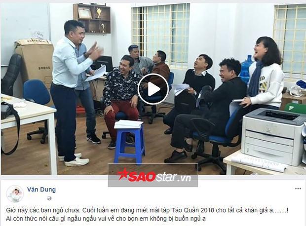 Cùng Vân Dung đã đăng tải clip hậu trường.