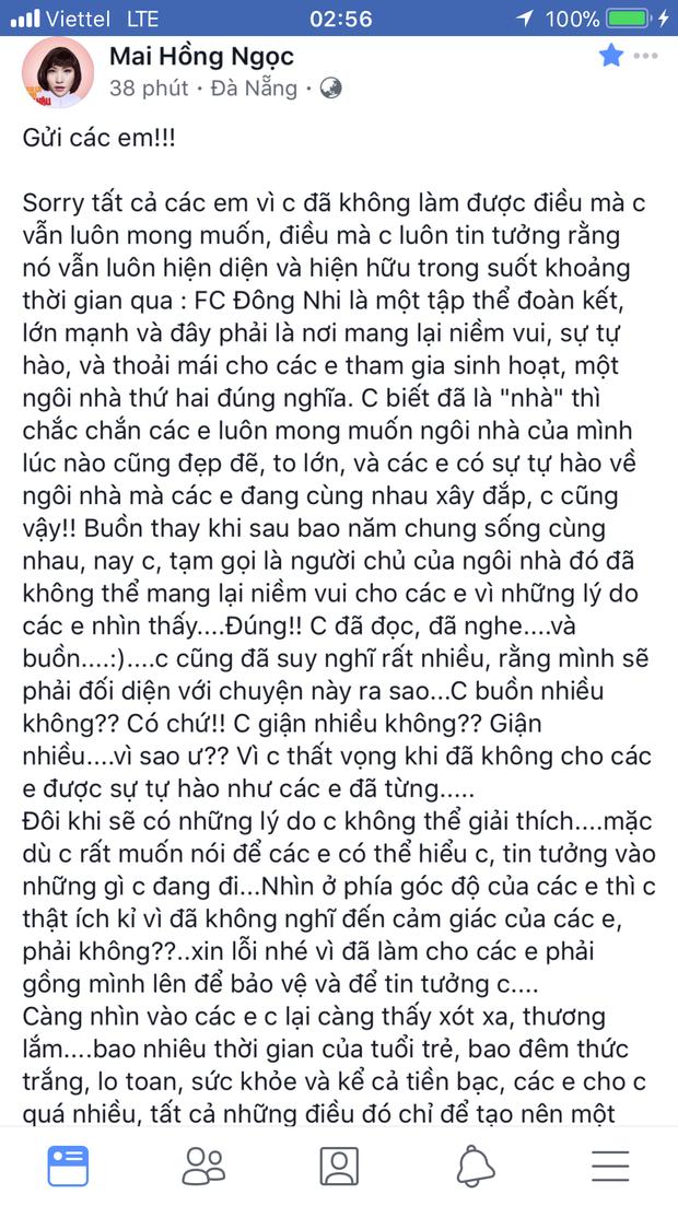 """Bức """"tâm thư"""" của Đông Nhi gửi đến fan trước khi khoá trang cá nhân."""