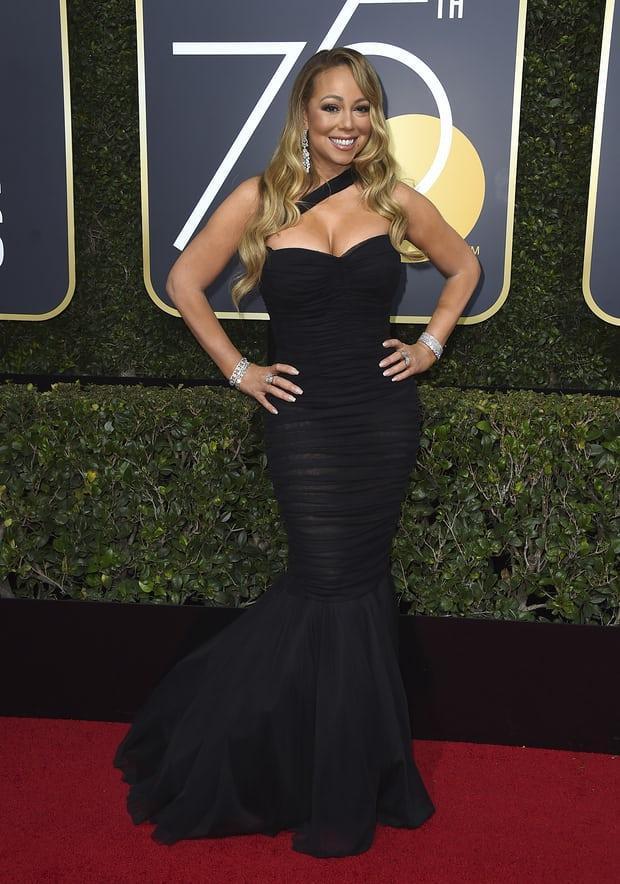 Mariah Carey cũng có mặt tại khán phòng Quả Cầu Vàng 2018.