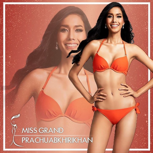 Đại diện đất nước láng giềng-Thái Lan, thí sinh Sarucha sở hữu chiều cao khủng 1m80. Cô từng đạt danh hiệu á hậu 2 cuộc thi Miss Grand Thái Lan 2017.