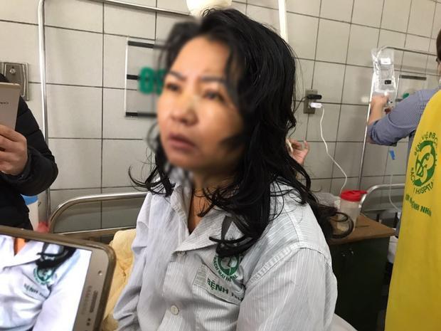 Chị N. hiện bị sơ gan nặng, phải lọc máu liên tục.