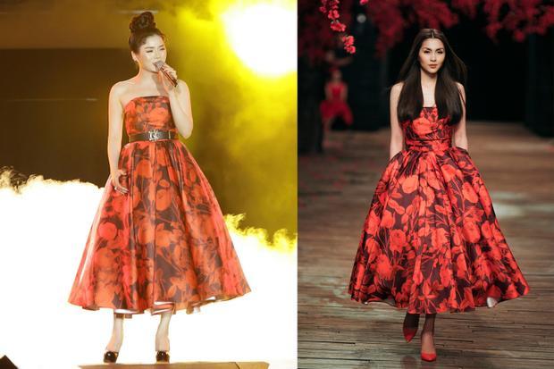 Diện lại váy cũ của Hà Tăng, Lệ Quyên vẫn xinh đẹp, sang trọng không tì vết