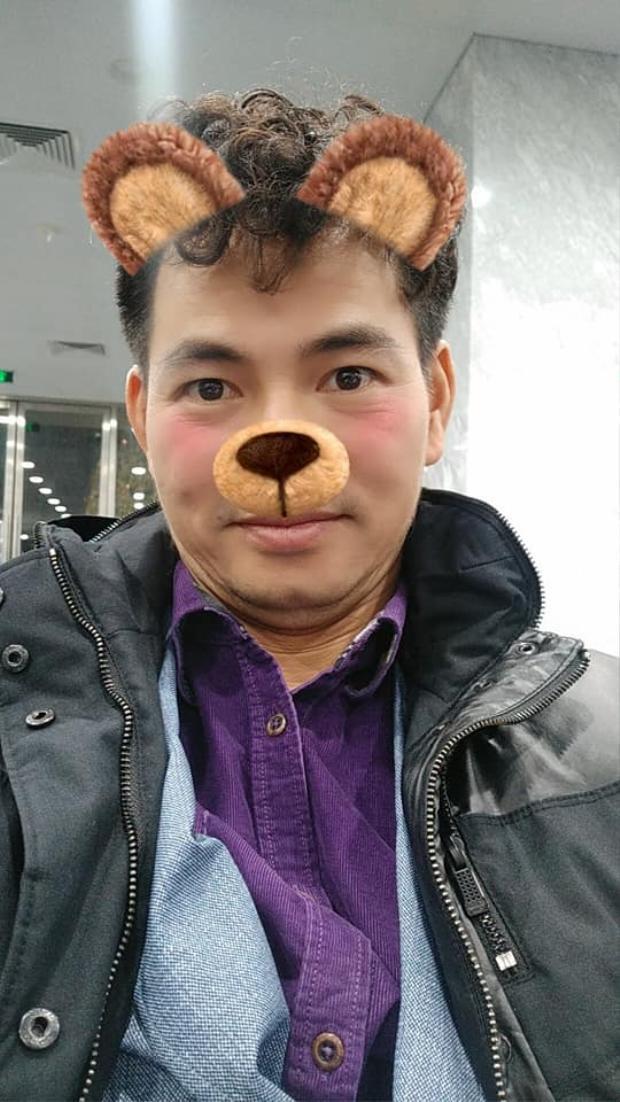Táo Xuân Bắc cũng biết dùng app dễ thương để selfie đó nha