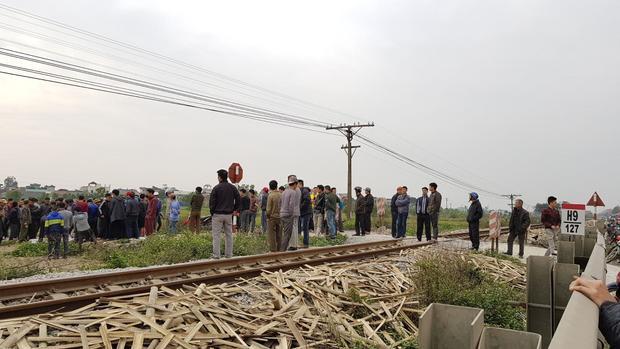 Khu vực đường sắt nơi xảy ra tai nạn.