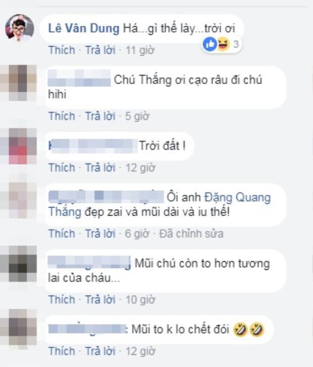 Khán giả thích thú với bức ảnh selfie hiếm hoi của nghệ sĩ Quang Thắng.
