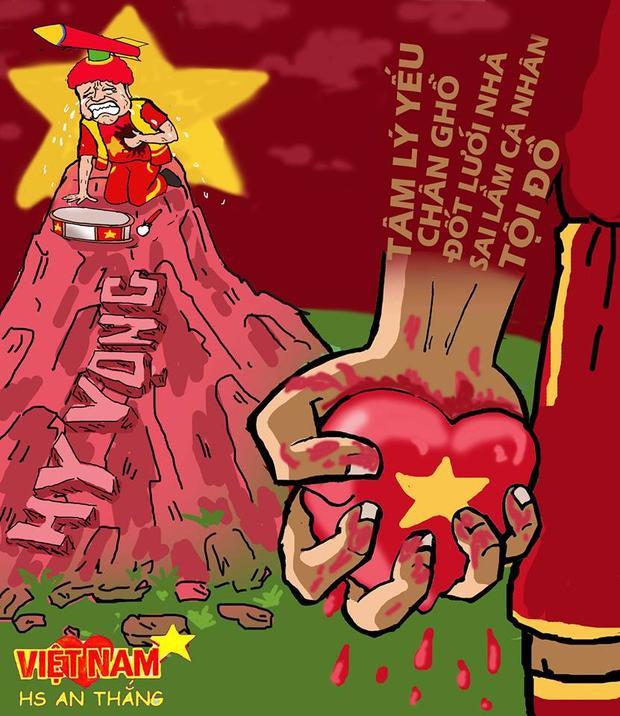 Khi sự chờ đợi lên đến đỉnh điểm thì trái tim của những người hâm mộ bóng đá Việt Nam như bị bóp nghẹt.