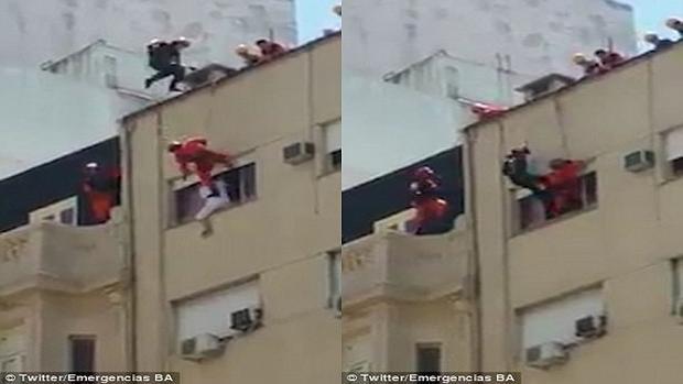 Lính cứu hỏa rất nhanh trí khi người đàn ông kiên quyết tử tự.