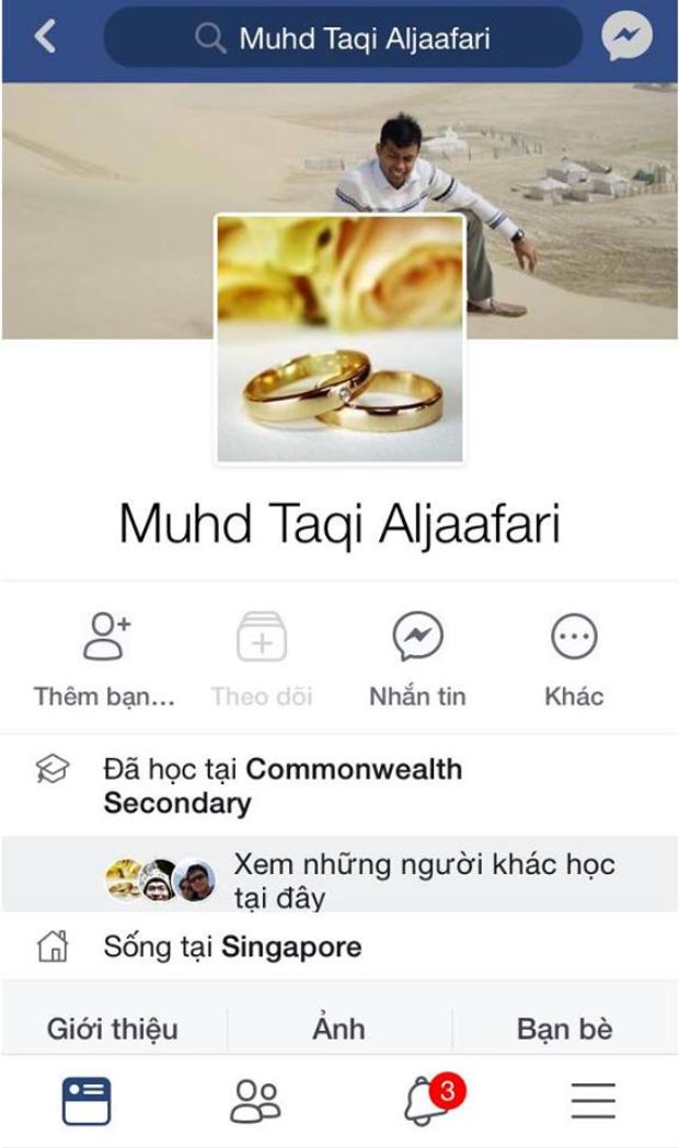Facebook của ông Taqi hiện đang tạm khoá.