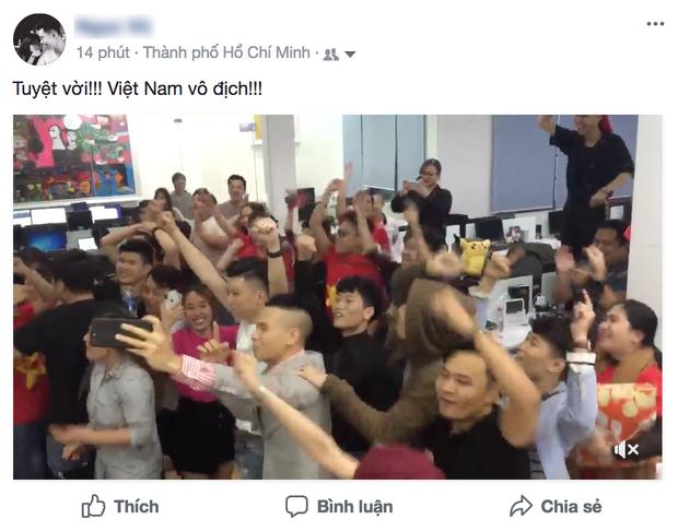 Niềm vui khi U23 Việt Nam được vào chung kết lan toả khắp mọi nơi.