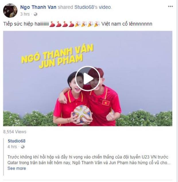 Tiếp sức cùng đội tuyển U23 Việt Nam.
