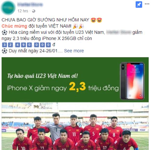 Đơn vị phân phối ủy quyền này mạnh tay giảm giá iPhone X ngay sau khi U23 Việt Nam chiến thắng.