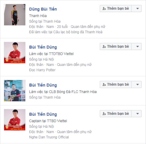 Sau khi hóa người hùng trên chấm luân lưu, hàng loạt facebook giả mạo thủ môn Bùi Tiến Dũng ra đời