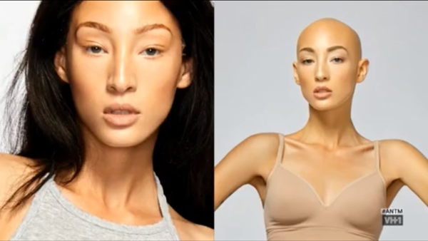 """Ảnh """"Before & After"""" của Jeana."""
