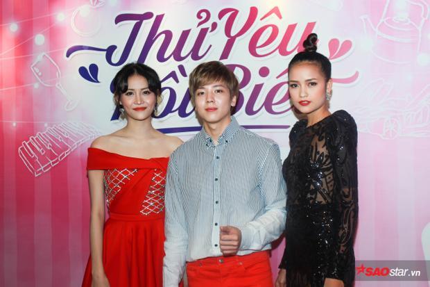 Trong phim, Kent Phạm đứng giữa chuyện tình với 2 cô gái xinh đẹp.