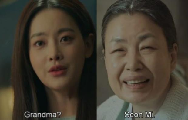 Bà ngoại và Sun Mi gặp lại nhau trong mơ nhờ nước mắt tiên cá mà Son Oh Gong đã cho Sun Mi