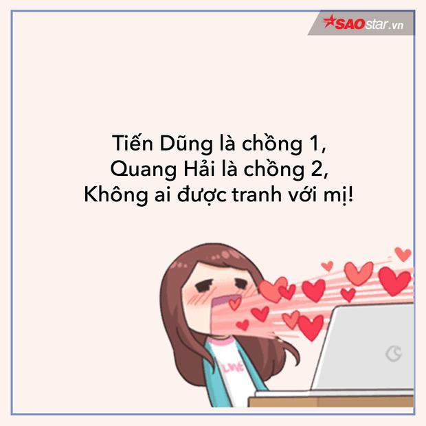 Đầu tiên phải kể đến những chị em fan girl tranh nhau nhận Tiến Dũng, Quang Hải làm chồng. Tin buồn cho các cô gái là Quang Hải đã có người yêu cực xinh rồi nhé!