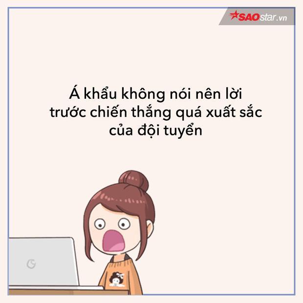 Fan girl câm nín không biết nói gì với những màn thể hiện đỉnh cao của đội tuyển U23 Việt Nam.