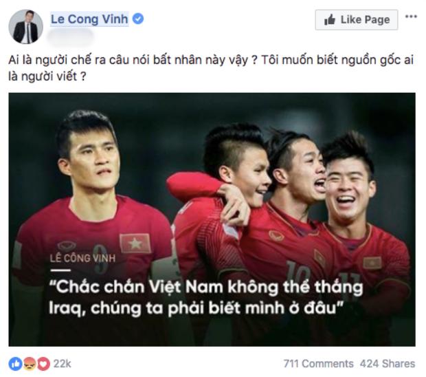 Thuỷ Tiên bức xúc khi ông xã Công Vinh bị đặt điều trù dập đàn em U23 Việt Nam
