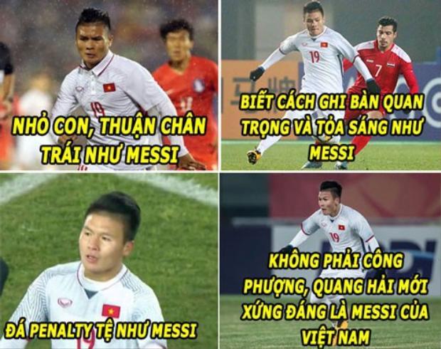 Quang Hải được dân mạng Việt Nam gọi là Messi của Việt Nam.