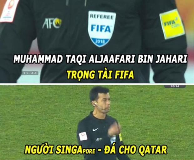 Dân mạng tiếp tục mỉa mai trọng tài Taqi thiên vị Qatar trong trận bán kết.