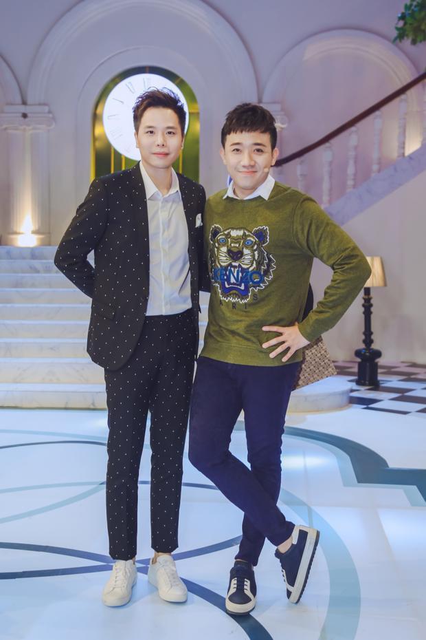 Bộ đôi bạn thân Trấn Thành - Trịnh Thăng Bình hội ngộ trên sóng truyền hình.
