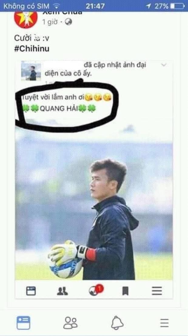 Nhầm rồi, đây là thủ môn Bùi Tiến Dũng, không phải Quang Hải.