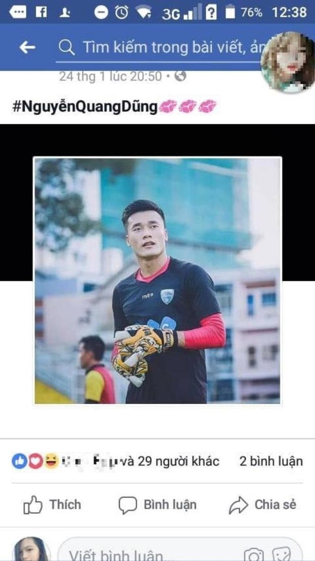 Sau trận đấu, thủ thành của U23 Việt Nam lại có thêm tên mới: Nguyễn Quang Dũng.