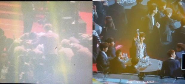 Wanna One vui vẻ chơi trò Mafia trong lúc chờ đợi lễ trao giải khai mạc.