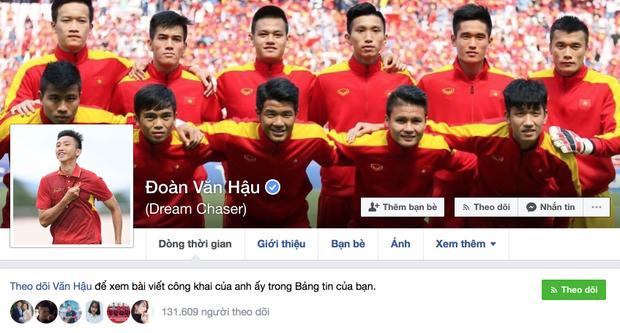Facebook của Văn Hậu.