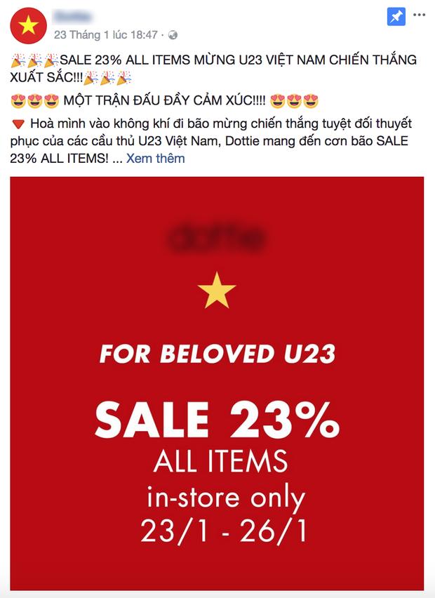 Giảm giá trực tiếp 23% để ăn mừng chiến thắng của U23 Việt Nam.