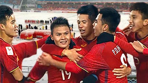 """Quang Hải - Cầu thủ mang áo số 19 là """"người hùng"""" với cú sút làm nên tỷ số 1 - 1 vừa qua."""