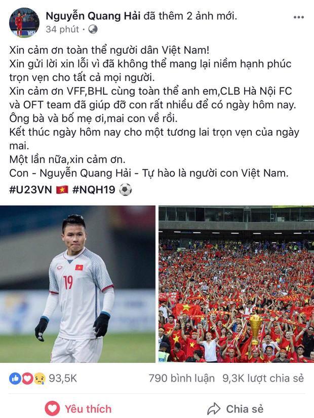 Chia sẻ mới nhất của Quang Hải…