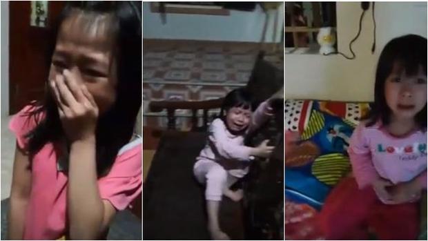 3 em gái nhỏ khóc nức nở khi U23 thua trận.