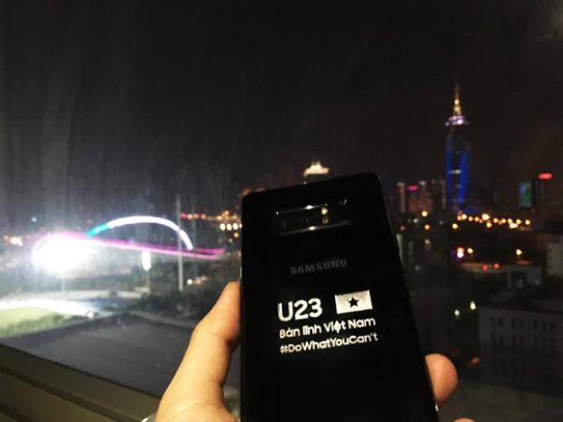 Phiên bản Samsung Galaxy Note8 đặc biệt Samsung Vina dành tặng U23 Việt Nam.