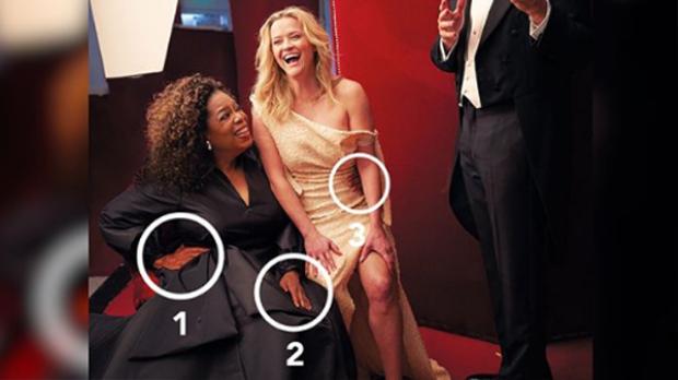 Lỗi Photoshop ngớ ngẩn khiến Oprah Winfrey có ba tay còn Reese Witherspoon có ba chân