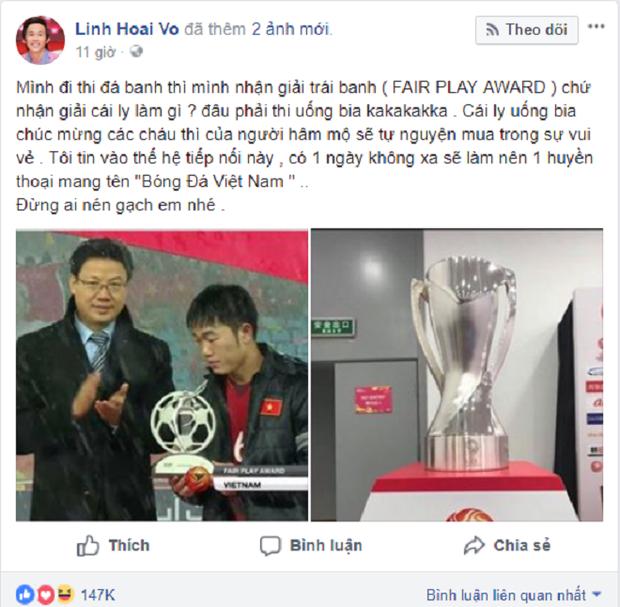 Lời động viên của Hoài Linh tới U23 Việt Nam.
