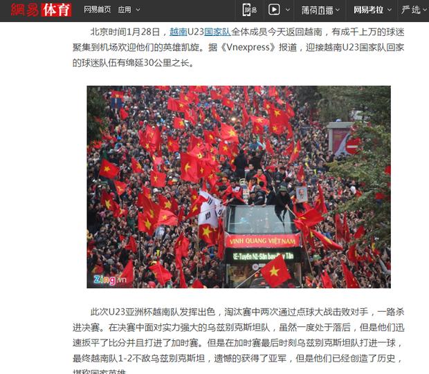 Bài viết trên trang Wang Yi của Trung Quốc.
