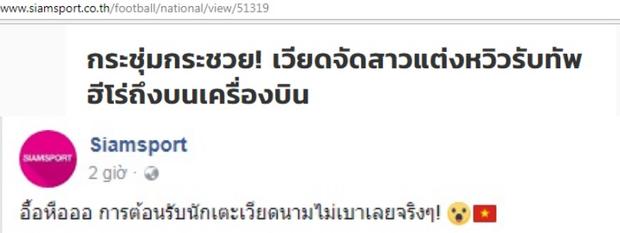 Các dòng tiêu đề trên báo và mạng xã hội Thái Lan.
