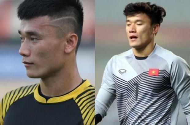 Kiểu tóc húi cua mang đến sự mạnh mẽ, trong khi kiểu tóc xoăn của Hàn Quốc làm nên vẻ ngoài lãng tử cho thủ thành tuyển U23 Việt Nam.