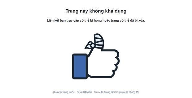 Trang fanpage đã tạm khóa và lời xin lỗi cũng đã không còn tồn tại trên trang http://Facbook.com/Vietjetvietnam.