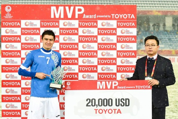 Tiền vệ trung tâm: Odiljon Xamrobekov (U23 Uzbekistan). Tuy không ghi được bàn thắng nào tại giải U23 châu Á 2018 nhưng Xamrobekov chính là linh hồn nơi tuyến giữa của U23 Uzbekistan. Sau trận chung kết, anh được Ban tổ chức bầu chọn là Cầu thủ xuất sắc nhất.