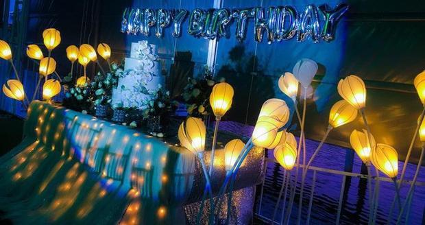 Không gian tiệc sinh nhật T. đã đặt trước đó - (Ảnh: Facebook).