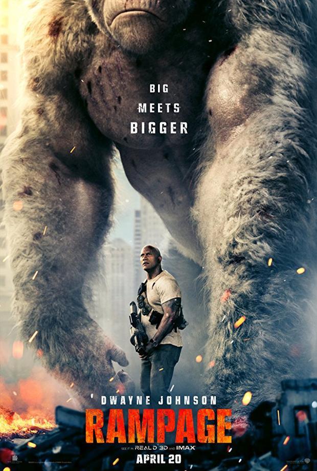 Siêu thú cuồng nộ: The Rock 1 đấu 3 với Gorilla, sói bay và cá sấu khổng lồ
